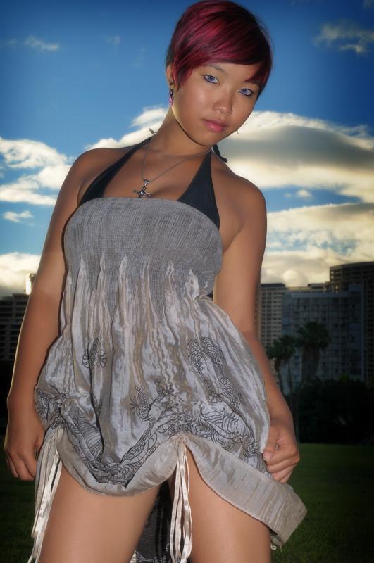 Female model photo shoot of lilmizzunperfect89 by Christopher Ward in Waikiki, HI