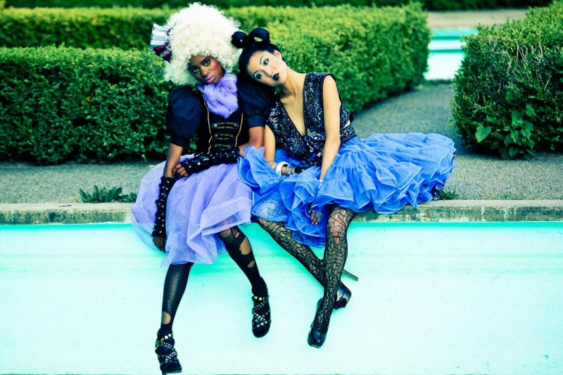 Female model photo shoot of Nabs Zion and _MIA by Steve Alkok, wardrobe styled by AyeshaFlyChick, makeup by Renata De Thomasis