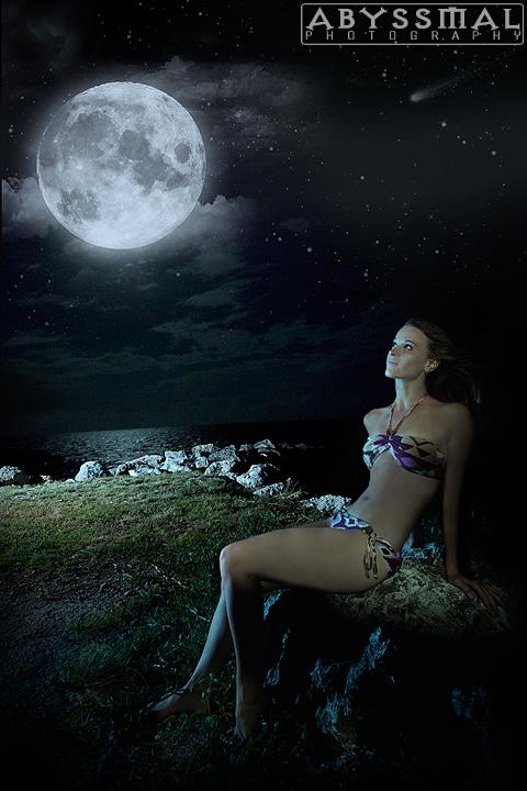 Coral Key, Florida Keys Jul 08, 2010 Moon Bathing with Amber
