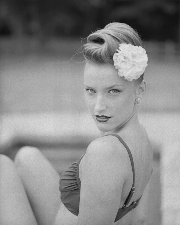 Female model photo shoot of KVP, wardrobe styled by Jennie Golani, makeup by Holly Glitter Gun
