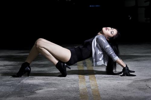 Female model photo shoot of Winnie L by Shen Koo, makeup by Laea Hidayah