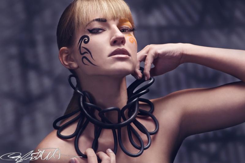 Female model photo shoot of Lenka Lukacova by Cayla Elliott, makeup by Star Hair and Makeup