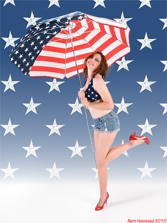 CoverShot Studio Jul 20, 2010 Bert Halstead Star-spangled girl!
