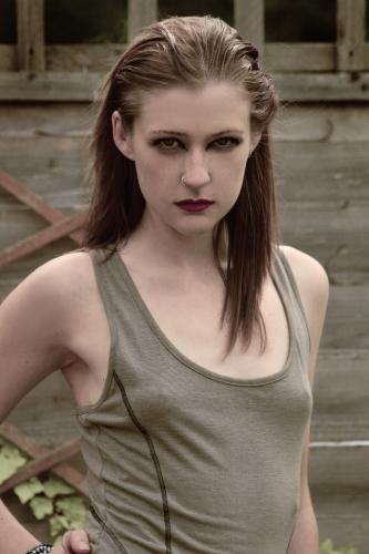 Female model photo shoot of Vicki Powell by Cindy Fu