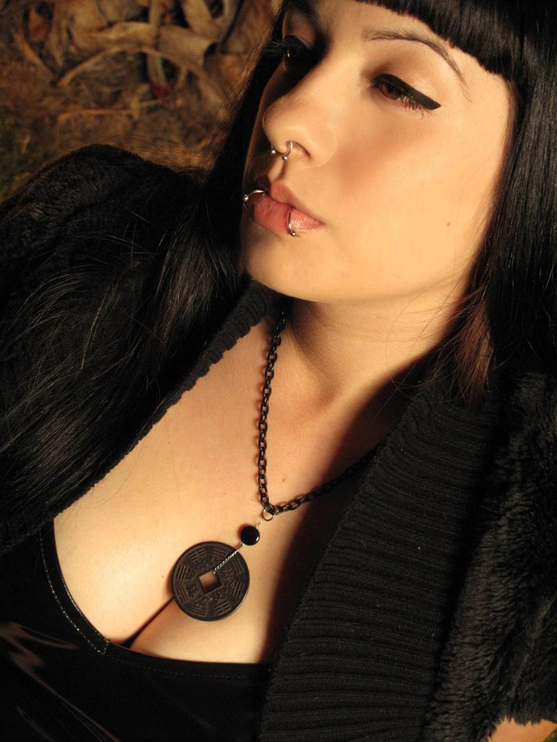 Female model photo shoot of Napalm Glitter by Darque Eyes Studios