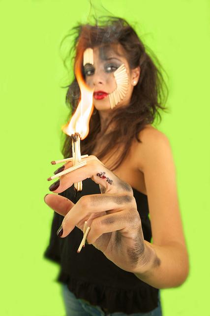 Jul 28, 2010 Marayah Photography Fire woman, burning Love