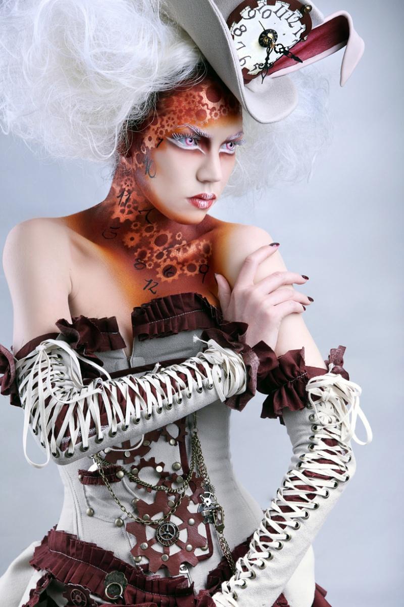 Los Angeles Jul 30, 2010 International Makeup Artist Trade Show winning makeup  Photographer: Stevan Zhao / Model: Alexandra Mathews