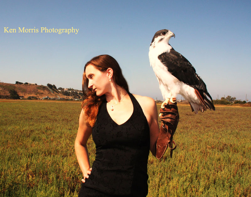 Female model photo shoot of Hawk and Model by DPM PHOTOGRAPHY in Santa Monica, California
