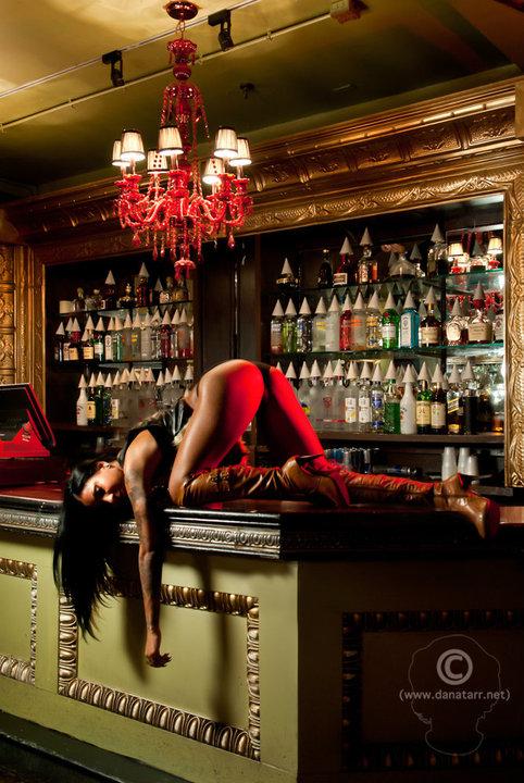 Female model photo shoot of Gia Von Tate by dana tarr