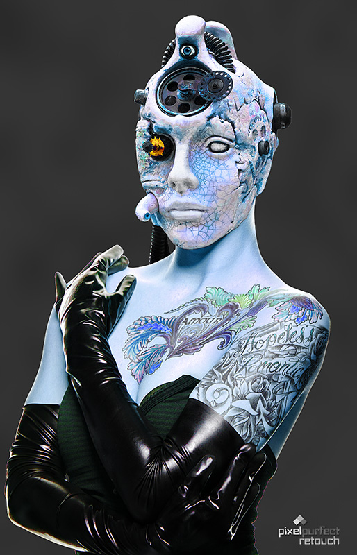 Aug 03, 2010 © 2010 David L. Lawrence - Head and Retouch - Model Photographer Paul Tirado Weird Science  2010