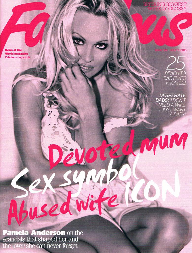 Hollywood, CA Aug 06, 2010 Isaiah Mays Pamela Anderson - Cover - Fabulous Magazine UK