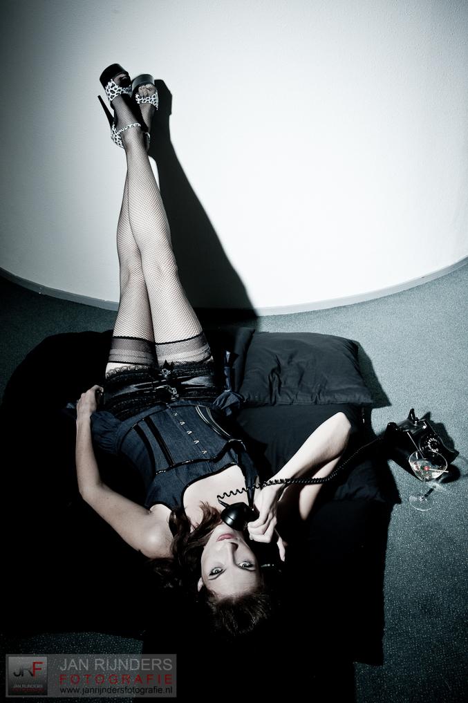 Female model photo shoot of Dylena in Houten, studio Rijnders
