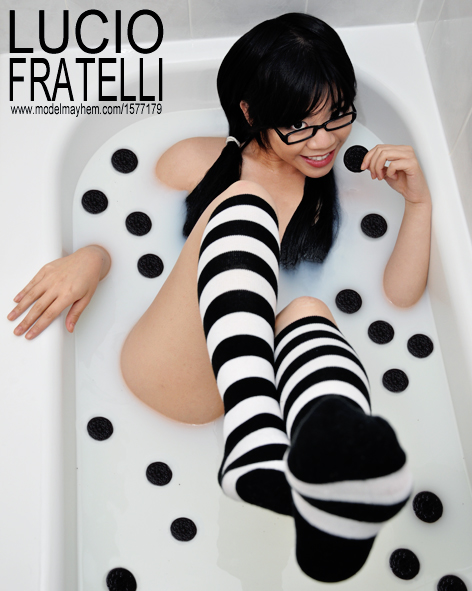 In a bath tub of oreo goodness.... Aug 12, 2010 LUCIO FRATELLI Cookie Monster