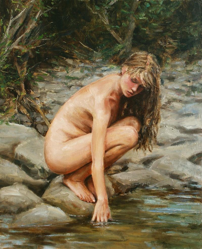 Aug 13, 2010 John Haag Fine Art Waters Edge - Oil on Linen