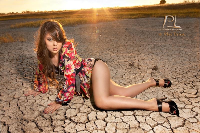 Female model photo shoot of Danielle Dawn by Phi Tran, makeup by Victoria Vandal Makeup