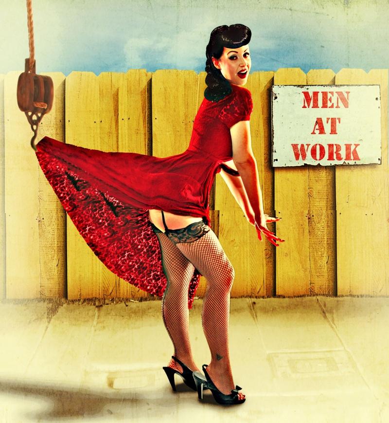Covina,CA Aug 16, 2010 Justalitha Men At Work