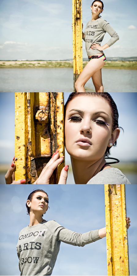 Hayling Island - Hants UK Aug 17, 2010 © Tom Langford Fashion Editorial - Chloe Shepheard