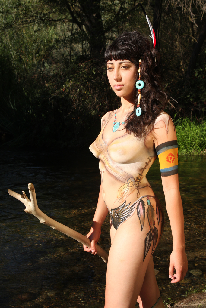 Lost Lake Park, Pinedale, California Aug 19, 2010 Copyright © 2010 Mike Schweizer Warrior Princess  (Body Paint by Laurie & Mario)