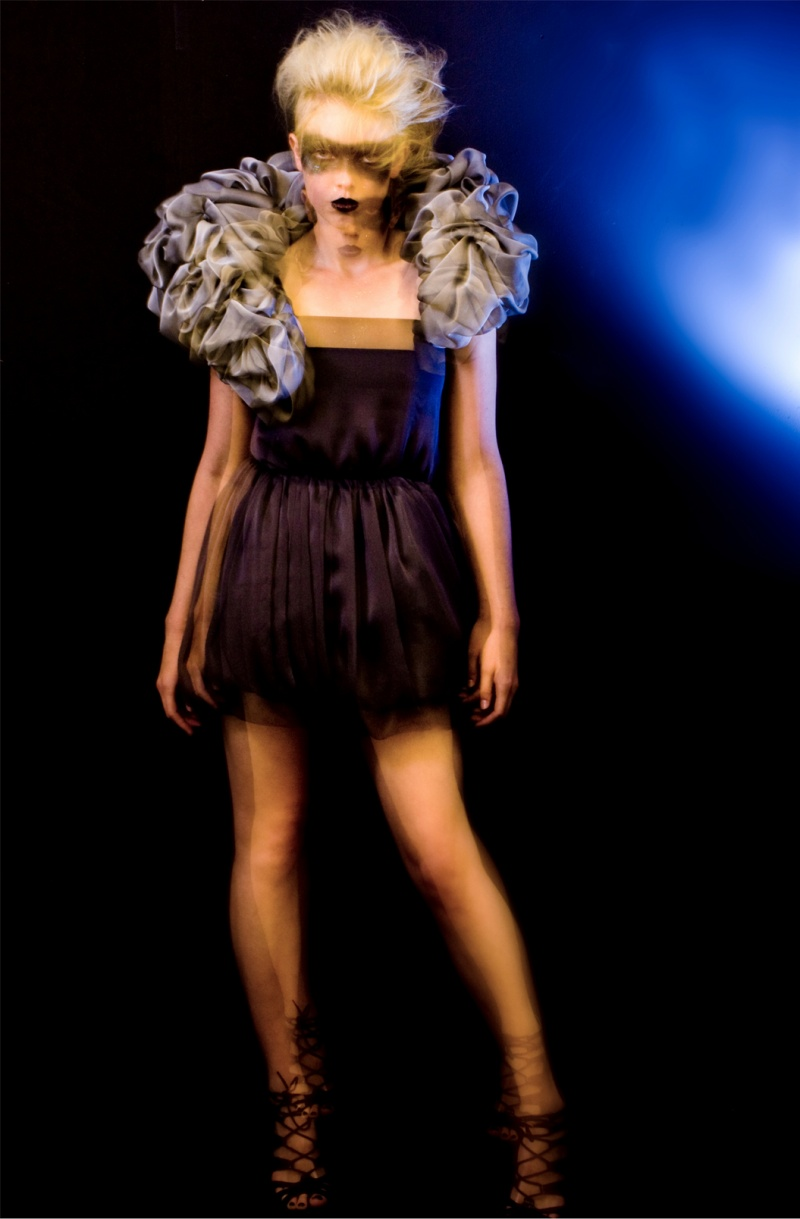 Studio Aug 20, 2010 Design by Megan Nicholas, Photography By Nathan McDowell Smoke Dress, Modelled by Sophie Challinor