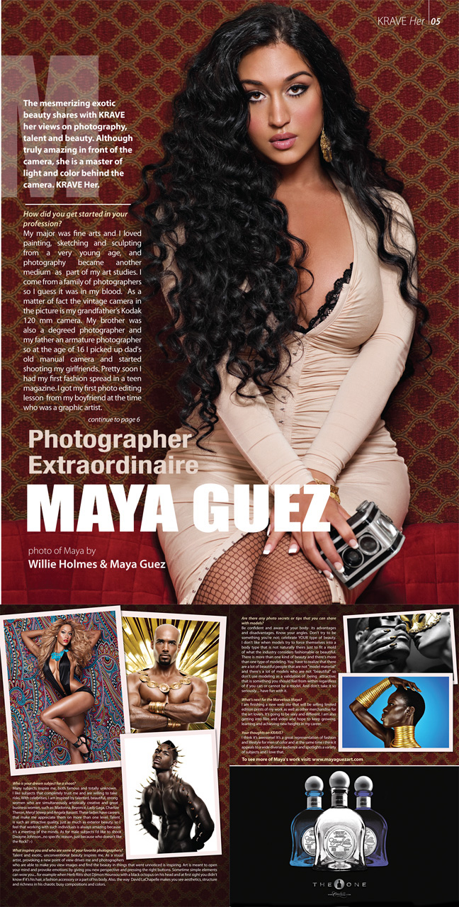 NYC Aug 23, 2010 (c) Maya Guez for KRAVE magazine 3 page article about me and my work in Krave magazine fashion issue. This year self portrait on my b day as allways...