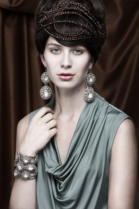Female model photo shoot of Jessica Gellweiler and LaurenB nyc, makeup by Jitka Kluglova