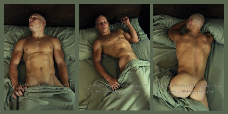 Aug 28, 2010 jc norton 2010 Limited Edition Fine Art Triptych: Study with Green Sheets #s 01, 02 03.  Model: Nate Knierim