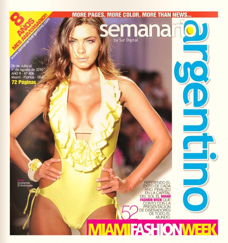 Miami Beach, Fl Sep 01, 2010 Guillemo DAmbrosio Cover of El Diario Argentino by Guillermo DAmbrosio