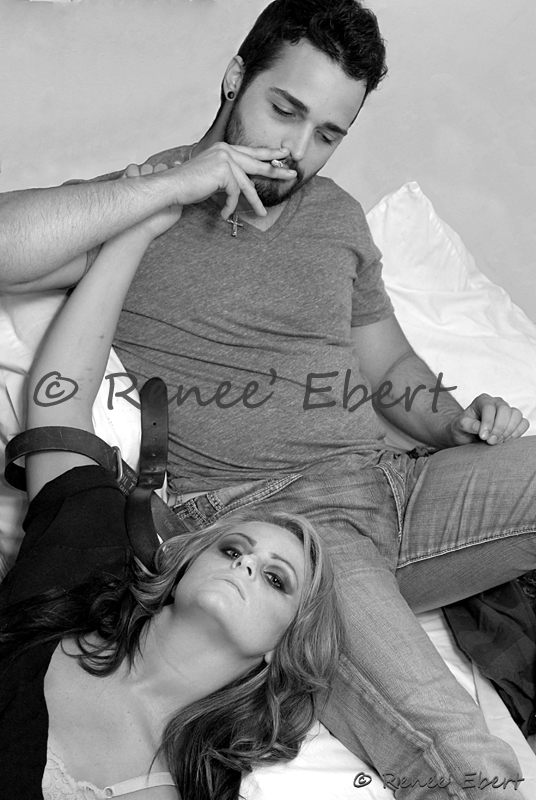 Female and Male model photo shoot of Photography by Renee E and _Mike Sullivan_, makeup by Liz Martin