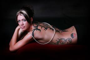 Female model photo shoot of Inked Kris