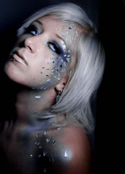 Female model photo shoot of Agnieshka MakeUp in Hacney Wick /  London
