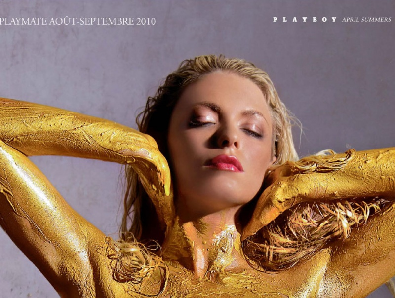 Sep 08, 2010 Playboy Playboy France 104 (Gold Issue) Centerfold Poster