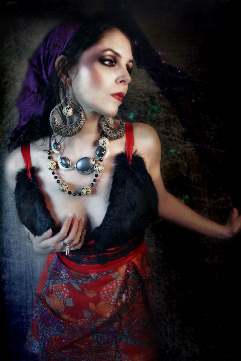 Female model photo shoot of Natasha Lazarovic by Anisa Nin, clothing designed by Temna Fialka