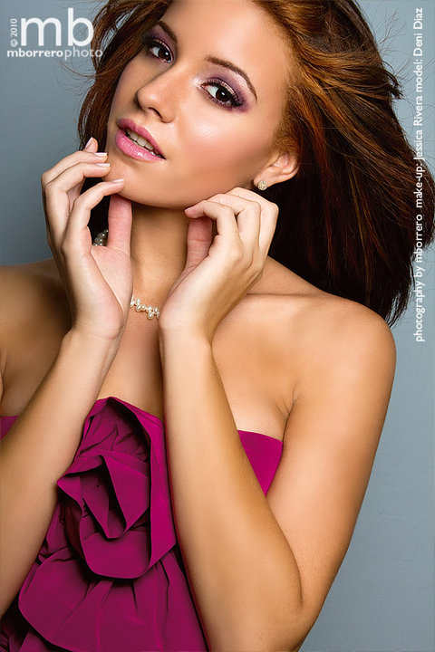 Female model photo shoot of Deni-Michelle by mborrero photo, makeup by Beauty by Rivera