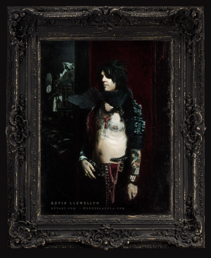 Male model photo shoot of LLEWELLYN in Collection of Nikki Sixx - Los Angeles