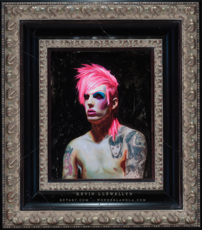 Male model photo shoot of LLEWELLYN in Currently on view at Kat Von D's Wonderland Gallery - Los Angeles