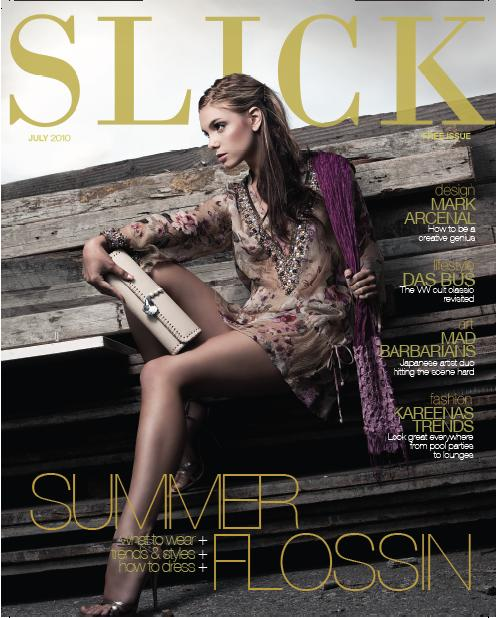 Los Angeles Sep 14, 2010 Slick Magazine/ Allen Chu July Cover of Slick Magazine