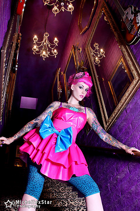 Sep 15, 2010 Pink PVC Dress Model-KandyisBadass Photo-MichelleXStar