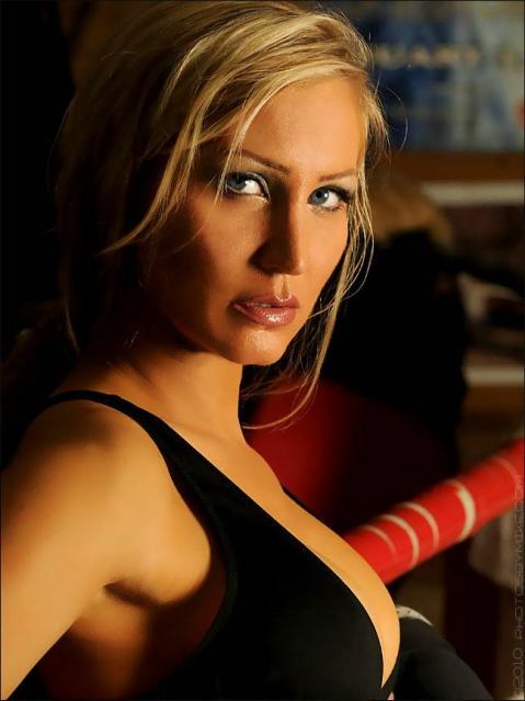 Female model photo shoot of Eva Lyn     in GET IN THE RING.