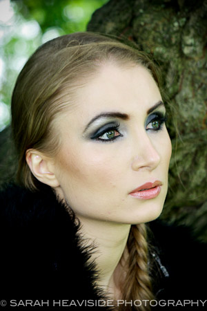 Female model photo shoot of Ailsa Naumann in Donnington Castle, makeup by Makeup by Amna