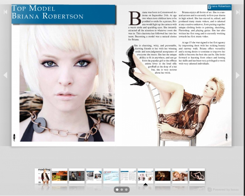 Sep 23, 2010 XDesign My photos of Briana in Modeling International Magazine