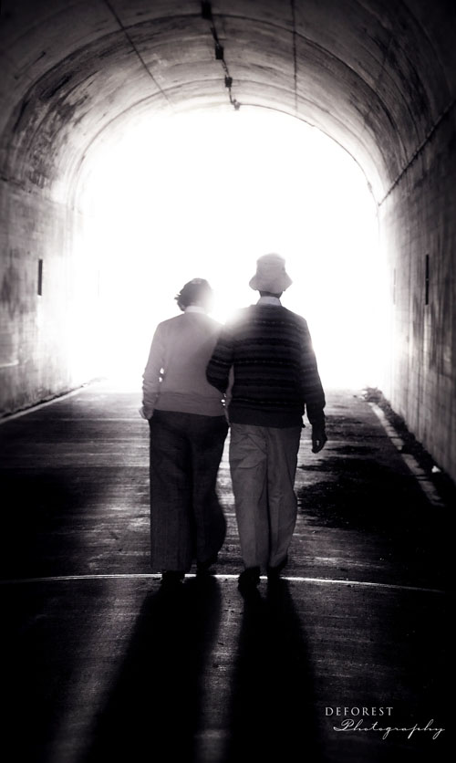 Fort Point San Francisco Sep 25, 2010 Deforest Photography Couple Walking in the Tunnel