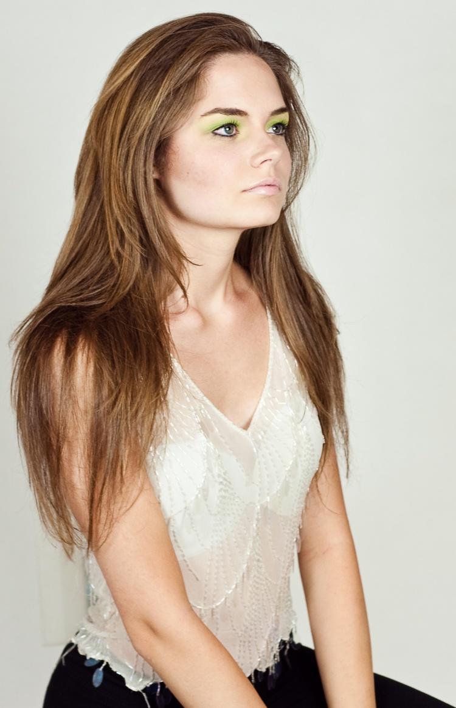 Female model photo shoot of Joanna Las, makeup by Leanna Esthetics