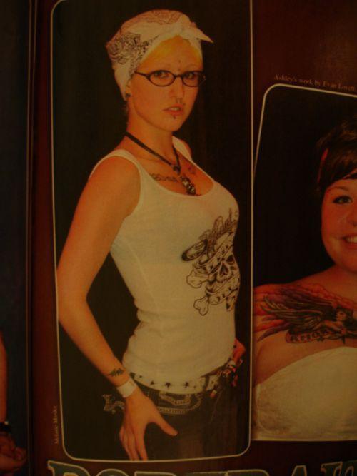 Female model photo shoot of Melanie Murder in Alantic city tattoo covn