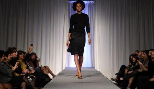 Female model photo shoot of Danika in Pittsburgh Fashion Week 2010