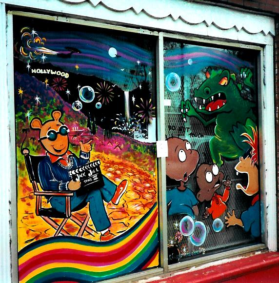 chicago.. jack and jill daycare Oct 08, 2010 Window Art ,,,  lets do your business, home or stage set, watch the children play.