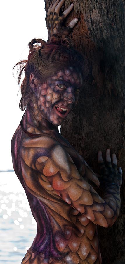 Abercrombie Park, St. Petersburg Oct 10, 2010 eekimelphoto Austin, body paint by Douglas Hoppe, Dragonz Eye Tattoo