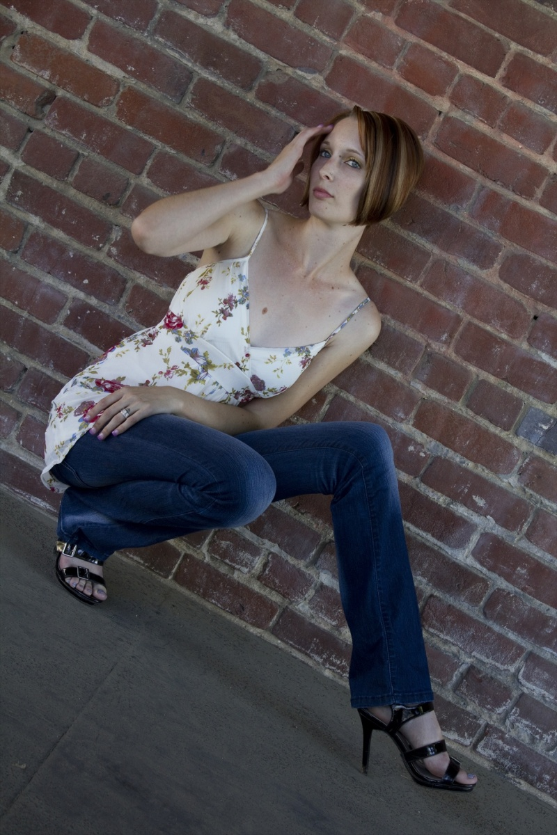Male and Female model photo shoot of Lucky1 Photography and Jennifer Ann Star in Fresno Digital (Downtown Fresno)