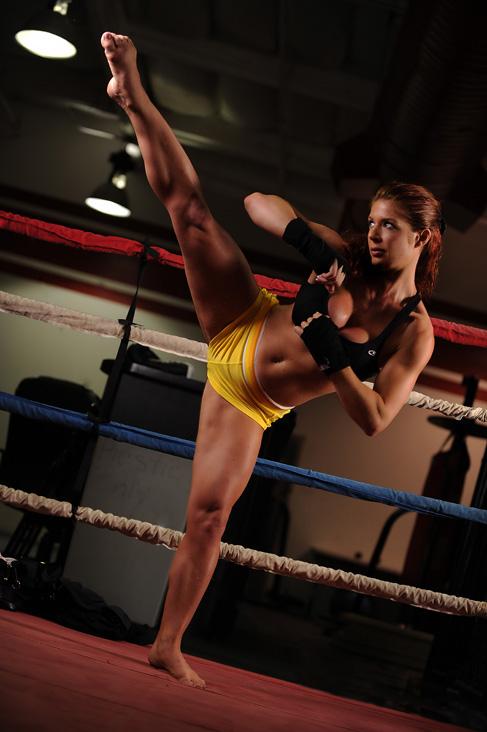 Female model photo shoot of AJ-Archer in Gold's Gym, Las Vegas Fight Club, NV