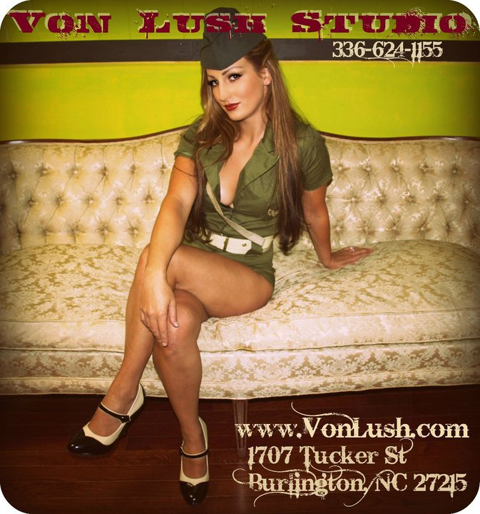 Von Lush Studio Oct 17, 2010 Lola Von Lush Army pin up