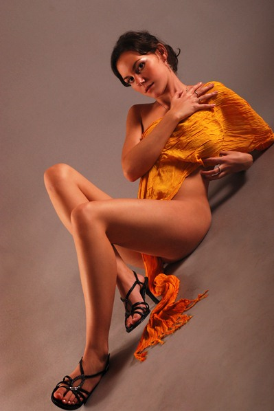 Female model photo shoot of BaraV in Prague - photostudio MTA - Czech Republic